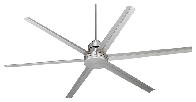 72 Quot Mondo Brushed Nickel Ceiling Fan Industrial