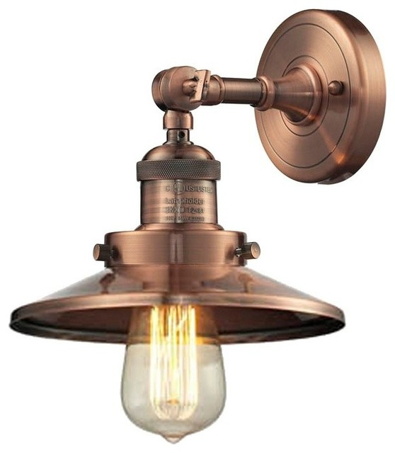 Wall Sconces Industrial : Railroad Shade Wall Sconce industrial-wall-sconces