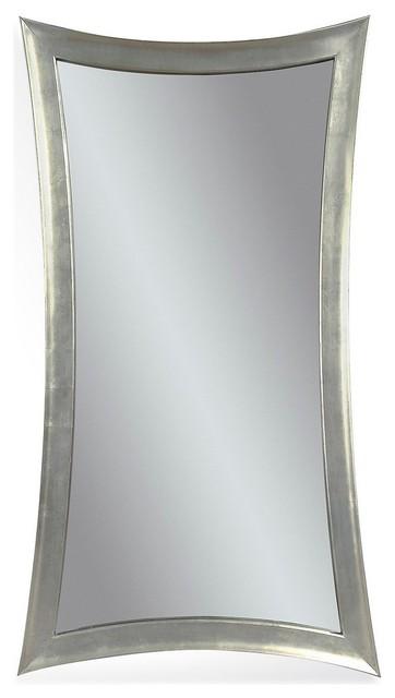 Bassett Mirrors Hour Glass 48x36 Wall Mirror In Silver