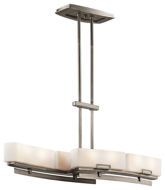 Kichler lighting leeds modern contemporary kitchen for Modern kitchen table lighting
