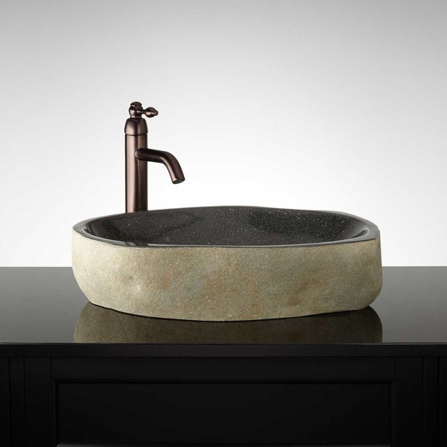 Jamine River Stone Vessel Sink Modern Bathroom Sinks
