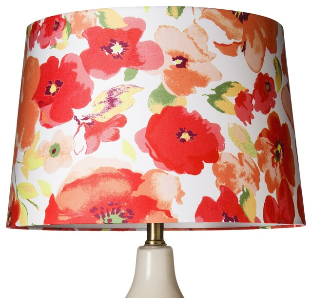 threshold floral lamp shade large contemporary lamp. Black Bedroom Furniture Sets. Home Design Ideas