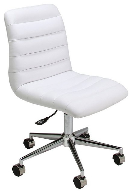 hawthorne office chair in pu ivory contemporary office chairs
