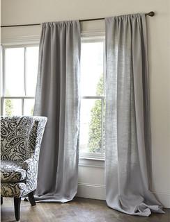 Brown Curtain Modern Curtains Customize Linen