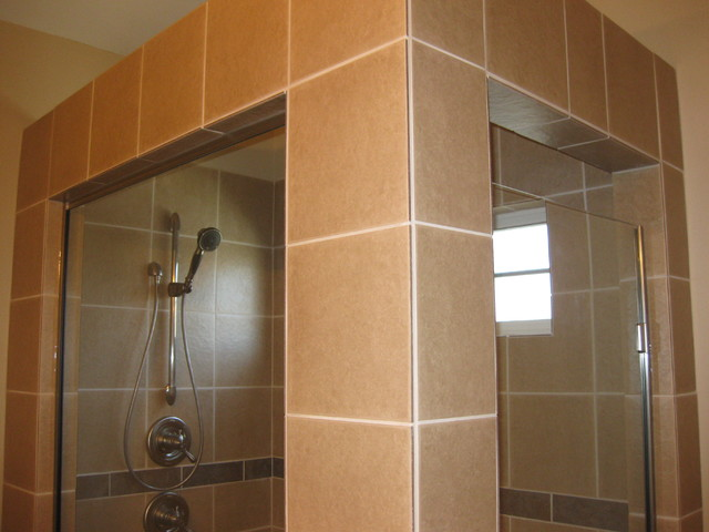 walk in shower and jacuzzi tub eclectic other by
