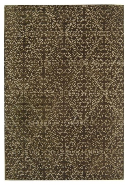 Martha stewart rug in coffee brown traditional area for Martha stewart rugs home decorators