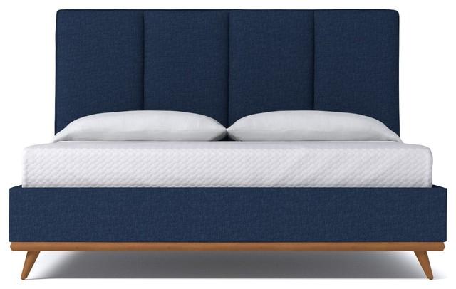 Carter Upholstered Bed From Kyle Schuneman Navy Navy Queen