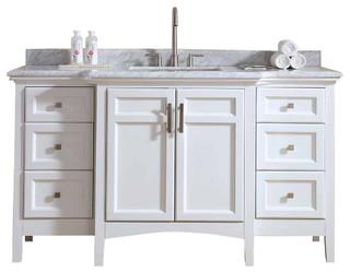 Luz Single Bathroom Vanity Set 60 Traditional Bathroom Vanities