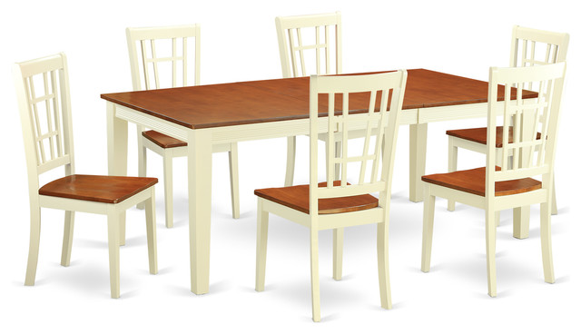 7 Piece Isabella Collection Espresso Dining Table Set  : dining sets from www.askhomedesign.com size 640 x 368 jpeg 48kB