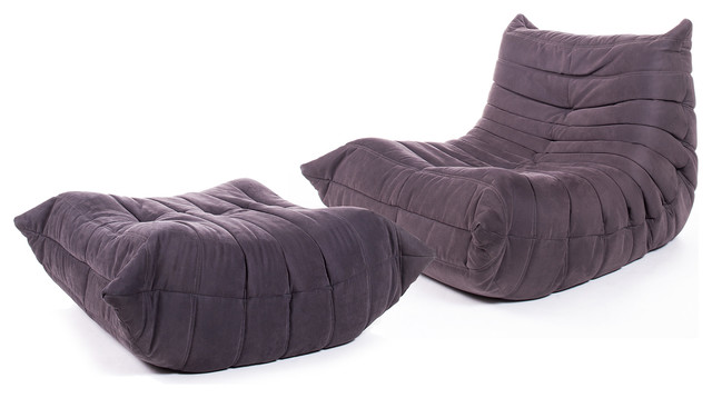 Ligne roset togo lounge chair ottoman by michel ducaroy for Housse togo ligne roset
