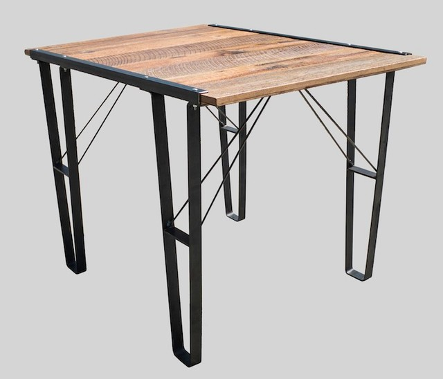 Industrial meets Rustic Table Industrial Dining Tables  : industrial dining tables from www.houzz.com.au size 640 x 548 jpeg 44kB