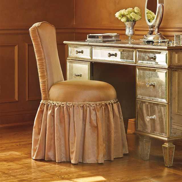 Whitney Vanity Stool Traditional Bedroom Makeup