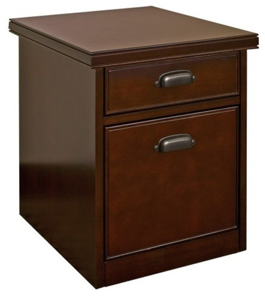Kathy Ireland Home by Martin - Tribeca Loft Cherry Rolling Two-Drawer File Cabin - Traditional ...