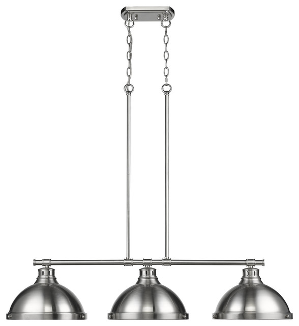 Duncan 3 Light Linear Pendant, Pewter