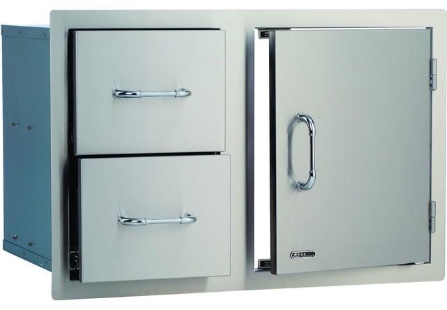 Bull 32 inch access door double drawer combo modern for 32 inch double doors