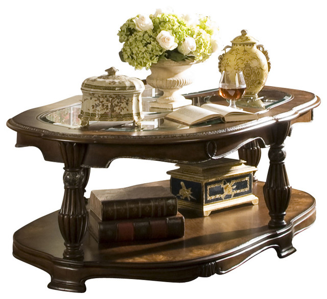 The sovereign oval cocktail table traditional coffee tables by warehouse direct usa Traditional coffee tables and end tables