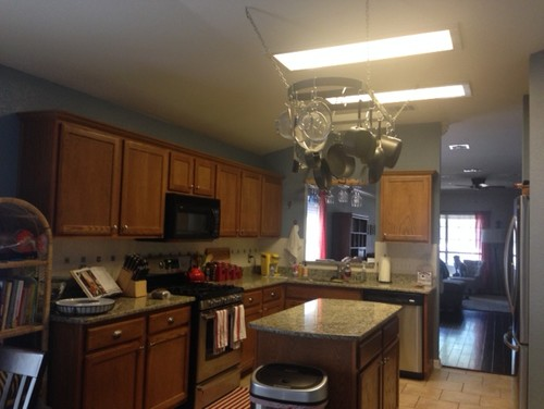 How To Update Hideous Fluorescent Lighting In Kitchen