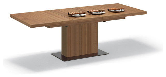 Vita Rectangular Dining Table In Walnut Contemporary Dining Tables