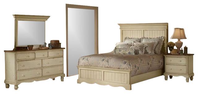 Hillsdale Furniture Wilshire Panel Bedroom Set Antique White Traditional Bedroom Furniture