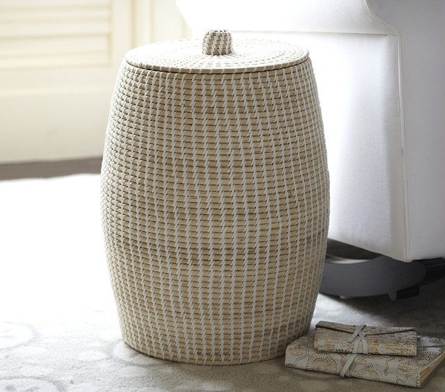 Woven Prayer Hamper Contemporary Laundry Baskets By