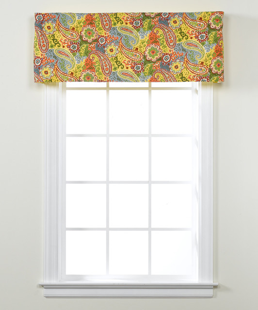 Colonial Floral Paisley Valance - Contemporary - Valances