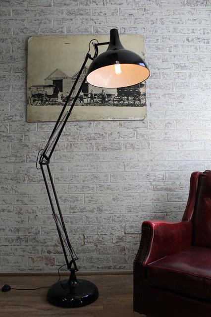 large metal floor lamp industrial floor lamps melbourne by fat. Black Bedroom Furniture Sets. Home Design Ideas