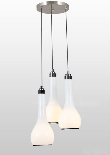 Modern White Glass Shade Pendant Lighting