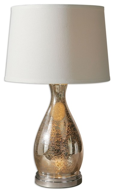 mercury glass table lamp transitional table lamps by littman. Black Bedroom Furniture Sets. Home Design Ideas