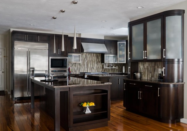 walnut contemporary kitchen modern kitchen cabinetry