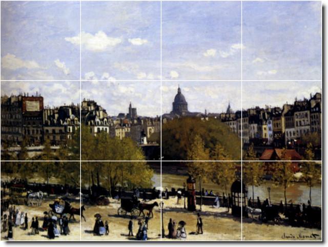 The Quai Du Louvre Paris Tile Mural By Claude Monet