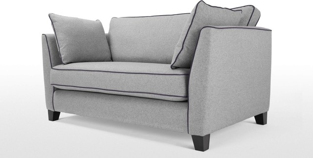 Wolseley 2 Seater Sofa Wolf Grey Modern Sofas By
