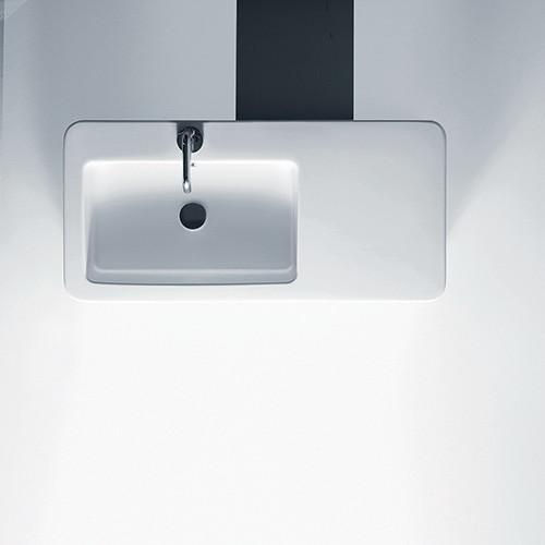 35 Large Rectangular Wall Mounted Vessel Ceramic Bathroom Sink Contemporary Bathroom