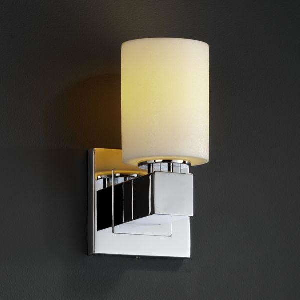 Justice Wall Sconces : Justice Design CNDL-8705-10-CREM-CROM Aero 1-Light Wall Sconce (No Arms) Candlea