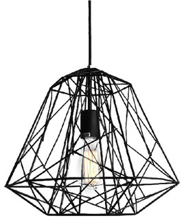 Hive Pendant, 1 Light, Black Iron Painting, Modern Pendant Light, Chandeliers