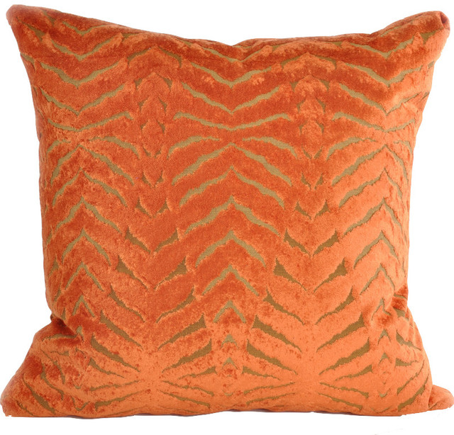 Magnetic Pillow, Orange - Contemporary - Decorative Pillows - by Baxter Designs LLC