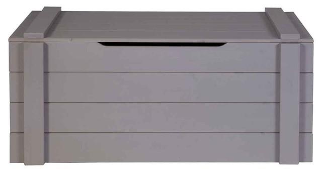Coffre jouets bois gris ludo couleur gris anthracite campagne banc de r - Coffre pour bois de chauffage ...