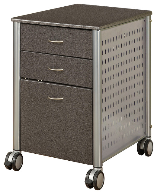 Archive Filing Cabinet, Granite Black - Contemporary - Filing Cabinets ...
