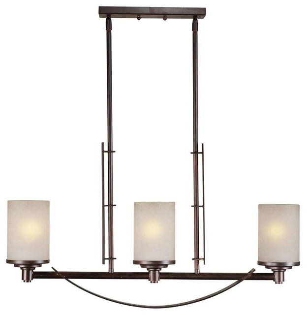 Forte Lighting 3 Light Island Pendant In Antique Bronze