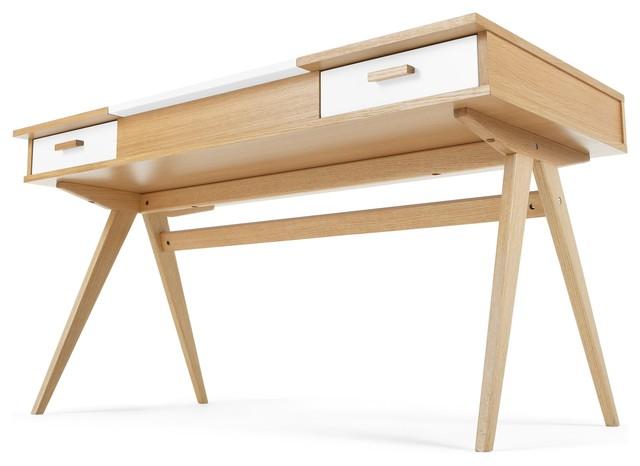 Stroller schreibtisch eiche und wei modern for Schreibtisch eiche modern