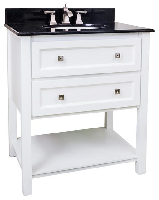 White Bathroom Vanity With Sink
