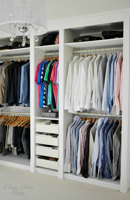 DIY IKEA Hack PAX Wardrobe Dressing Room - Transitional ...