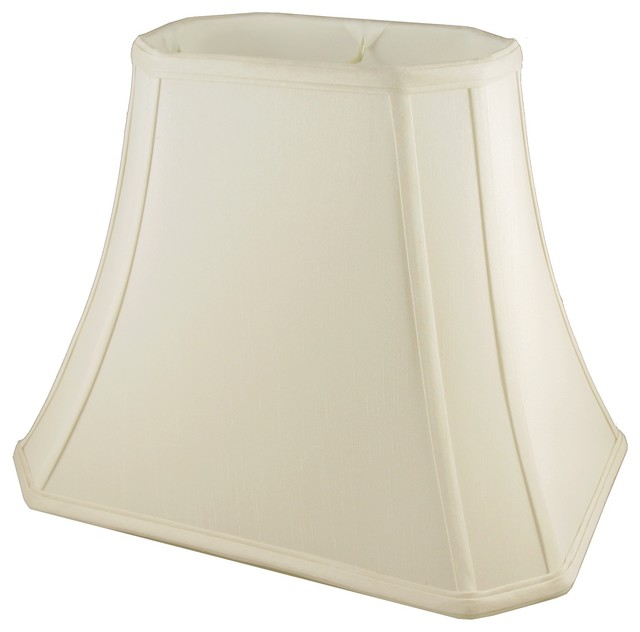 corner rectangle bell shaped eggshell lampshade 10x6x8 5 lamp shades. Black Bedroom Furniture Sets. Home Design Ideas