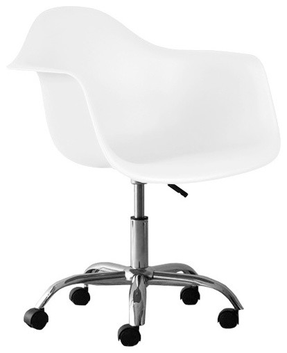 Molded Plastic Office Chair White Midcentury Office Chairs By  sc 1 th 249 & Plastic Computer Chair. Molded Plastic Office Chair White Midcentury ...