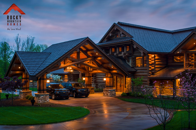 Lodge Style Living- Rocky Mountain Homes - Rustic - Garage - Other ...