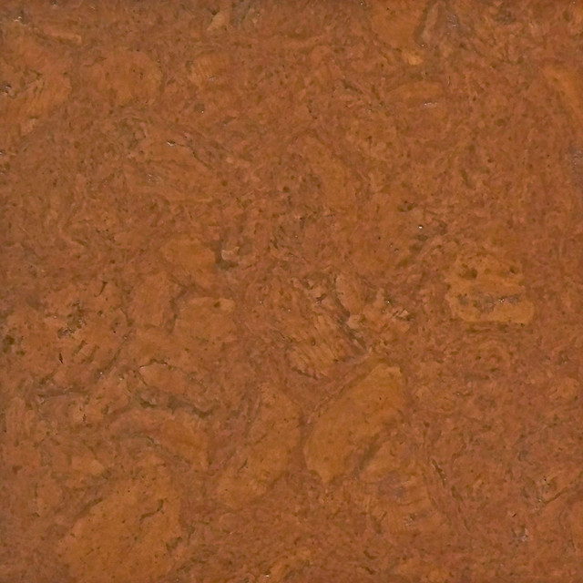Oro cotta colored cork tiles in nugget texture for Outdoor cork flooring