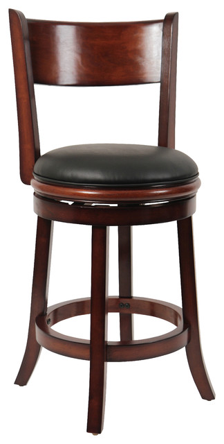 24 Quot Palmetto Swivel Stool Brandy Traditional Bar