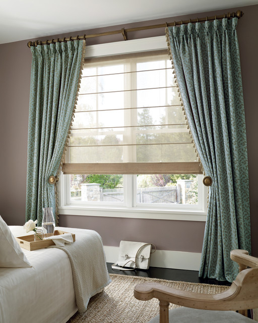 Custom Drapery Upholstery Transitional Curtains