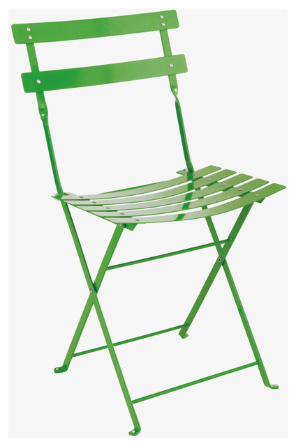 Parc Greens Leaf Green Metal Folding Garden Chair HabitatUK Midcentury