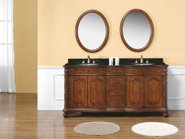 72 Tirreno Double Sink Vanity Traditional Bathroom Vanities And Sink Consoles San Diego