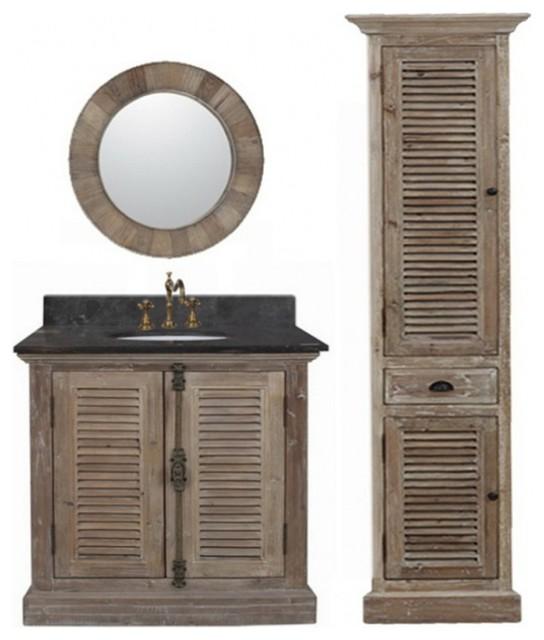 36 Single Sink Bathroom Vanity Natural Oak Farmhouse Bathroom Vanities And Sink Consoles